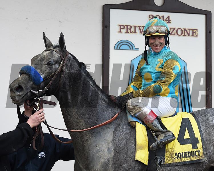 El Kabeir wins the 2015 Gotham Stakes at Aqueduct. <br /> Coglianese Photos/Susie Raisher