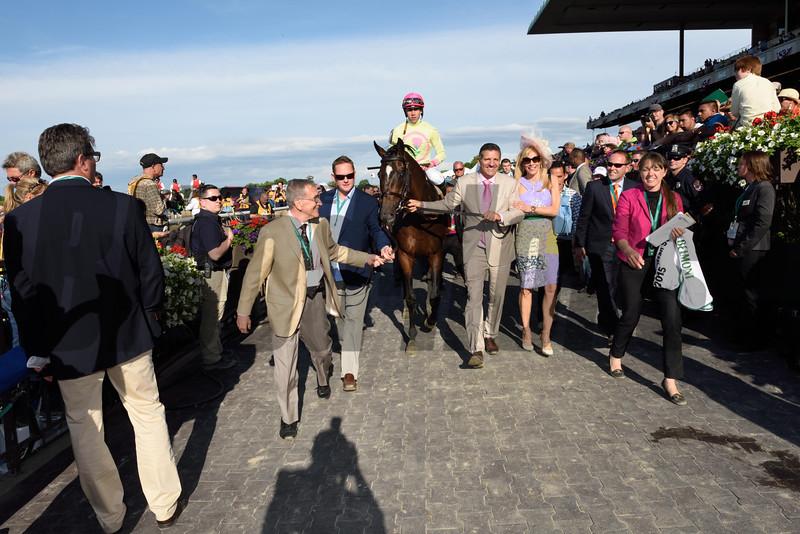 Slumber wins the 2015 Manhattan Stakes<br /> Coglianese Photos