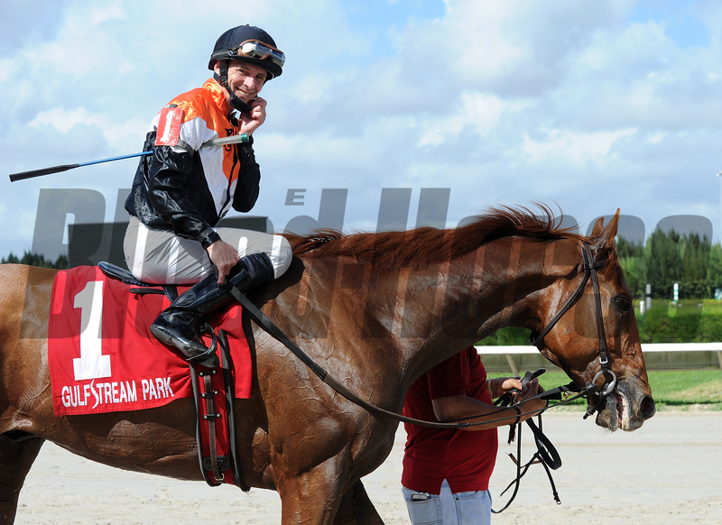 Old Time Hockey wins the 2015 Millions Turf Preview Stakes.<br /> Coglianese Photos/Lauren King