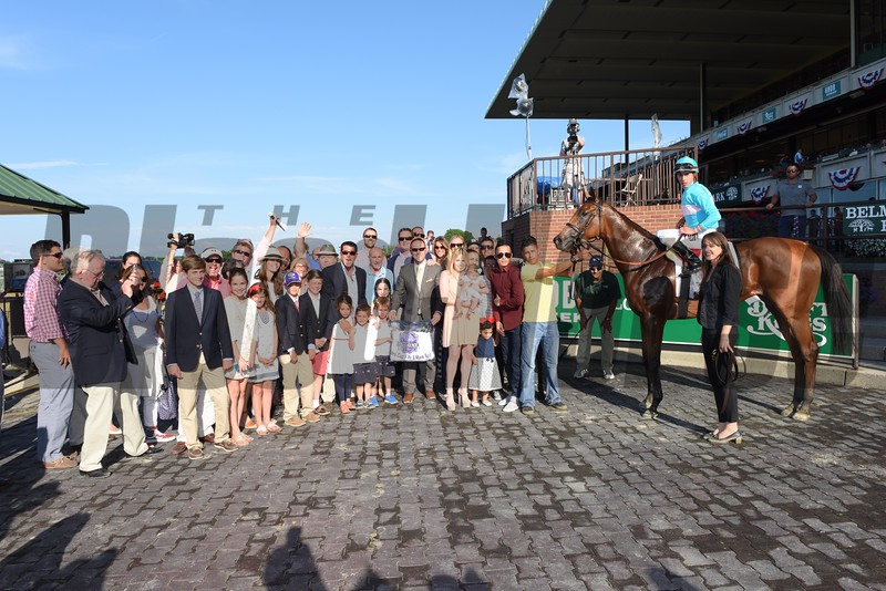 Lady Eli wins the 2015 Belmont Oaks.<br /> Coglianese Photos