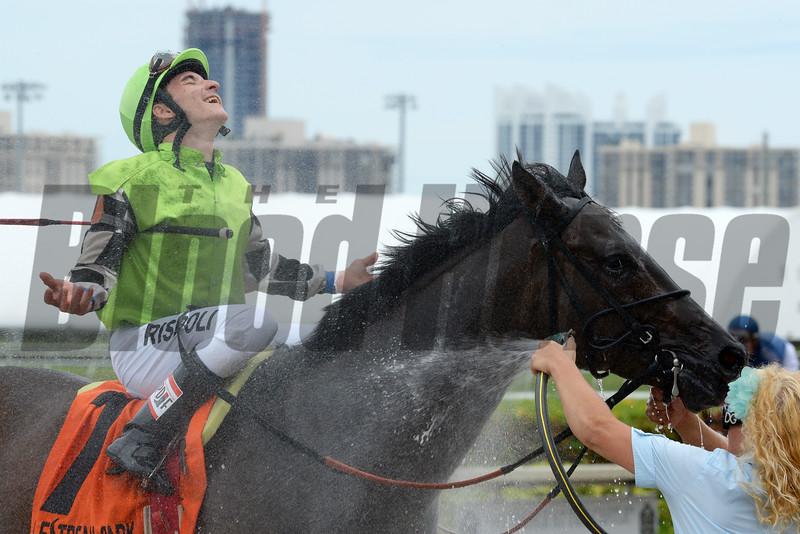 Lochte wins the Mr Steele Stakes Sept. 27, 2015.<br /> Coglianese Photos/Lauren King