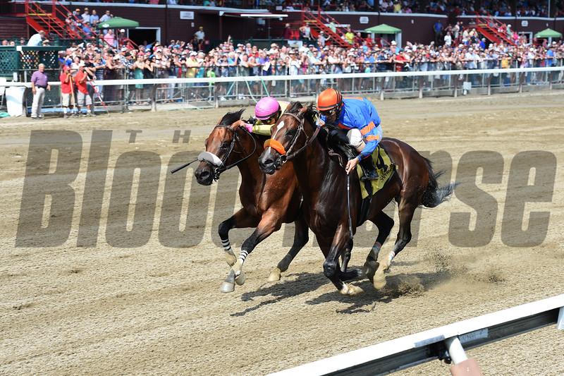 Royal Posse wins the 2015 Evan Shipman Stakes.<br /> Coglianese Photos/Chelsea Durand