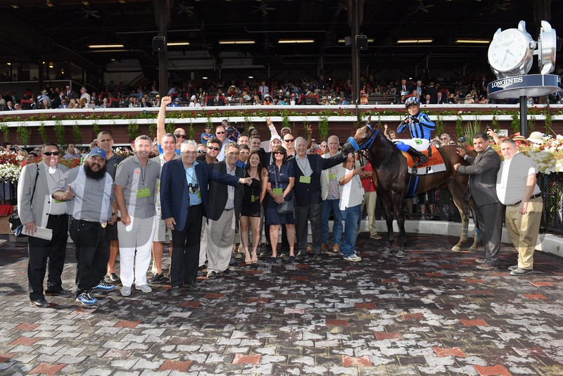 Private Zone wins the 2015 Forego Stakes.<br /> Coglianese Photos
