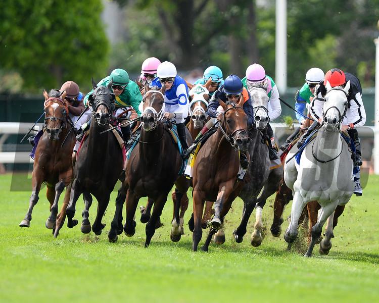 Tepin wins the 2015 Just a Game Stakes.<br /> Coglianese Photos/Joe Labozzetta