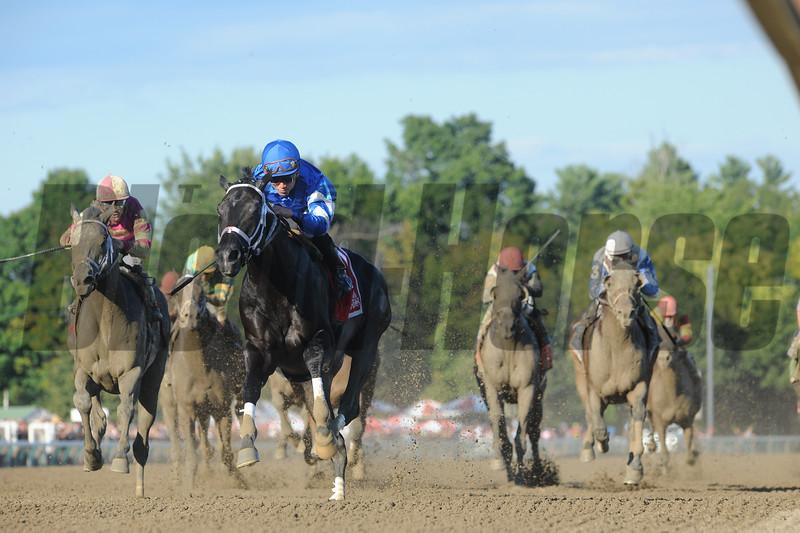Bay of Plenty wins the 2015 Alydar Stakes.<br /> Coglianese Photos/Adam Mooshian