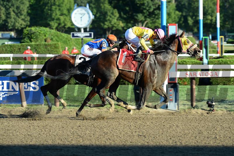 Good Luck Gus wins the 2015 Albany Stakes.<br /> Coglianese Photos/Joe Labozzetta