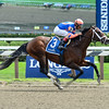 Sudden Surprise wins the 2015 Funny Cide Stakes.<br /> Coglianese Photos