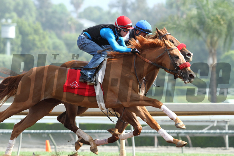 A pair of workers for trainer RICHARD BALTAS at Santa Anita 05.30.15. Photo by Helen Solomon