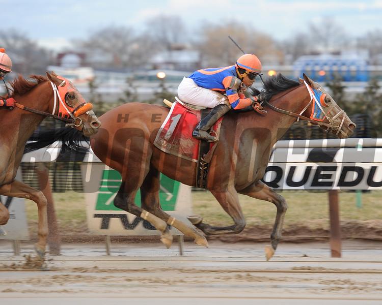 Micromanage wins the Jazil Stakes Jan. 18, 2015.<br /> Coglianese Photos