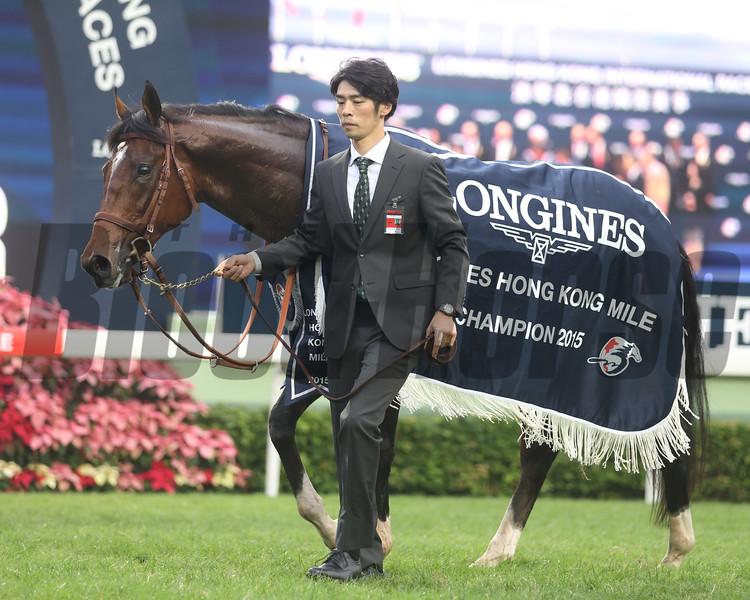 Maurice wins the 2015 Hong Kong Mile.<br /> Masakazu Takahashi