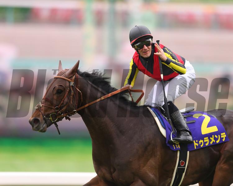 Duramente wins the Satsuki Sho (Jpn-I, Japanese Two Thousand Guineas). <br /> Masakazu Takahashi Photo