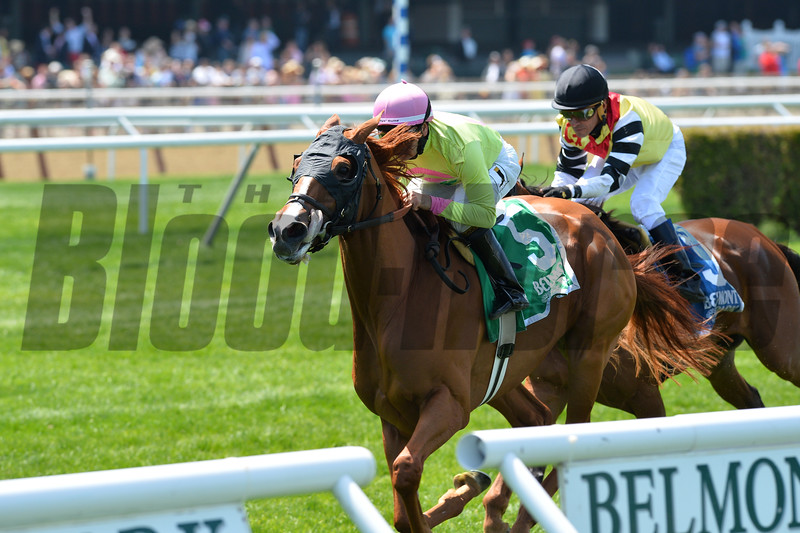 Rosalind wins the 2015 Sheepshead Bay.<br /> Coglianese Photos/Joe Labozzetta