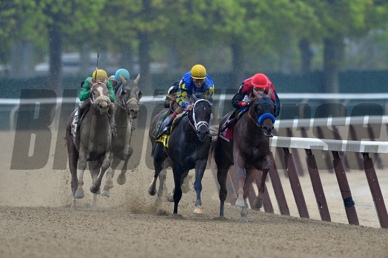 Madefromlucky wins the 2015 Peter Pan Stakes.<br /> Coglianese Photos/Joe Labozzetta