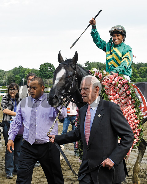 Honor Code wins the 88th running of The Whitney Saturday August 8, 2015 at the Saratoga Race Course in Saratoga Springs, N.Y.  <br /> Photo by Skip Dickstein