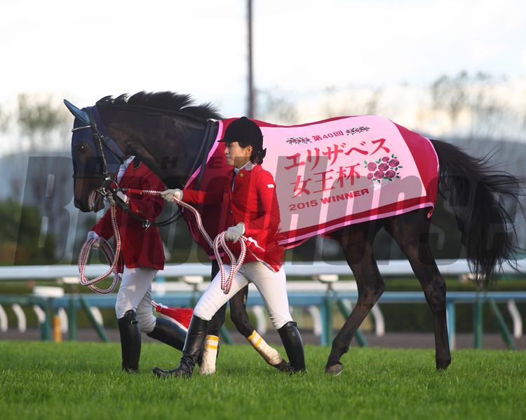 Marialite wins the QE II Cup in Japan Nov. 15.<br /> Masakazu Takahashi Photo