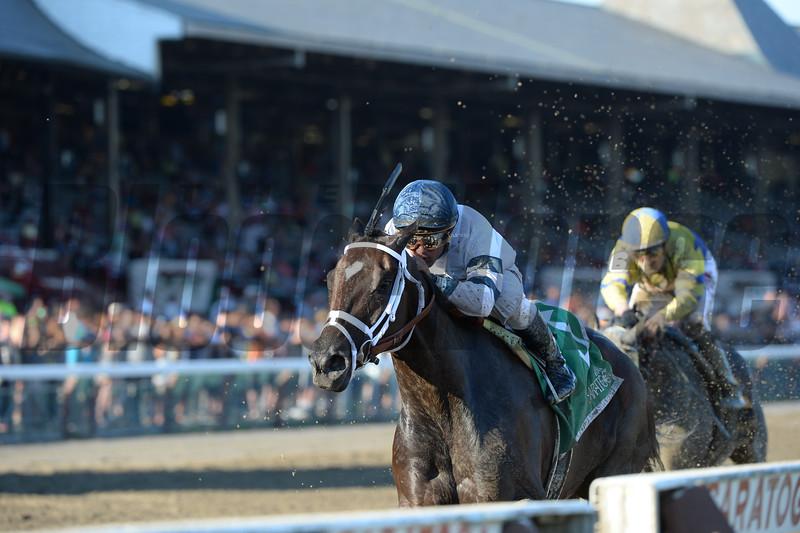 Stopchargingmaria wins the Shuvee Stakes August.<br /> Coglianese Photos/Adam Mooshian