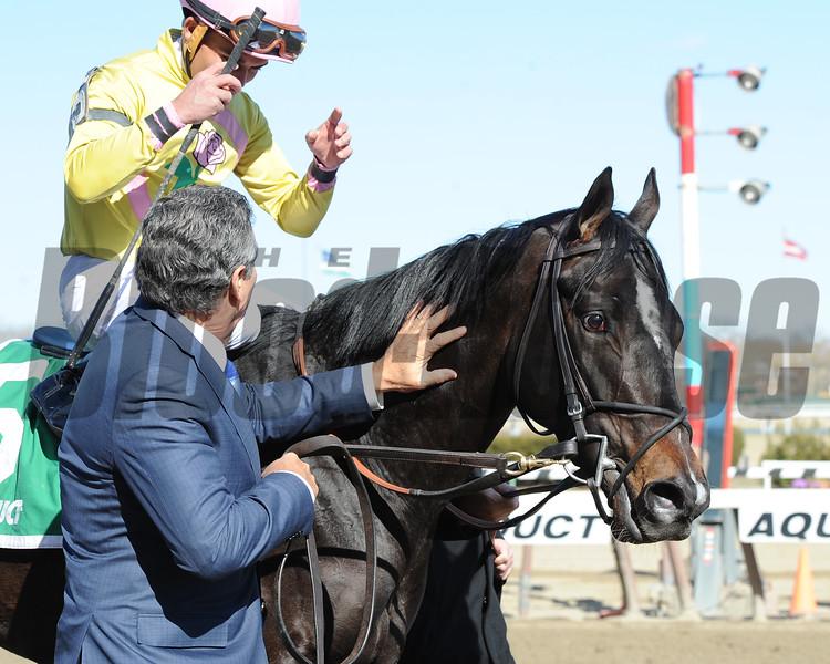 Condo Commando wins the 2015 Gazelle Stakes.<br /> Coglianese Photos