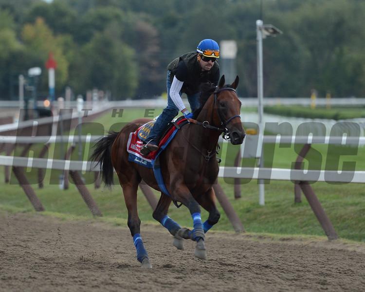 American Pharoah - Saratoga, August 27, 2015.<br /> Coglianese Photos/Susie Raisher