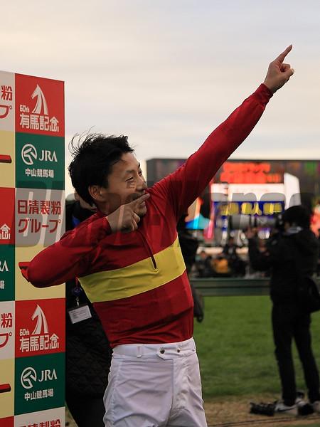 Gold Actor wins the Arima Kinen in Japan Dec. 27.<br /> Naoji Inada Photo
