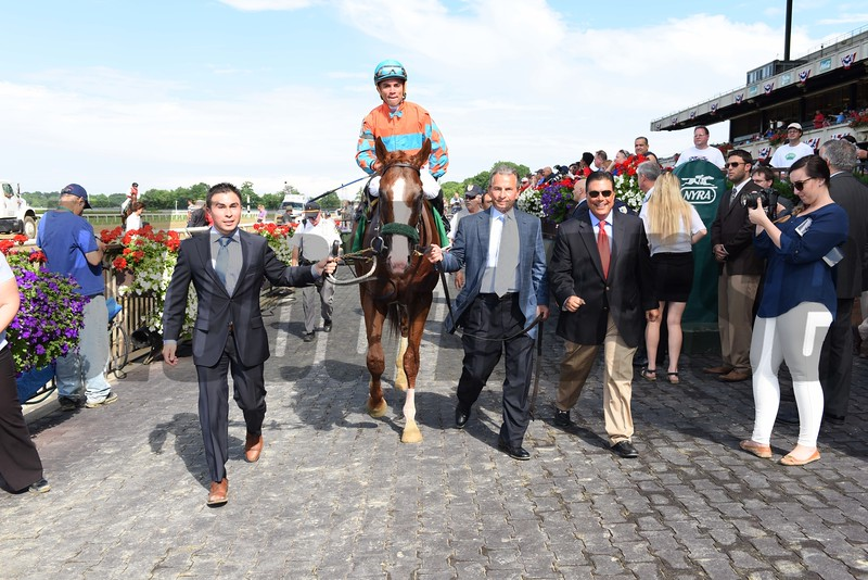 Force the Pass wins the 2015 Belmont Derby Invitational.<br /> Coglianese Photos