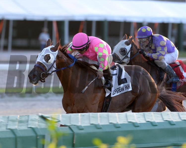 Li'l Meatball wins the 2015 Juvenile Sprint Stakes.<br /> Coglianese Photos/Lauren King