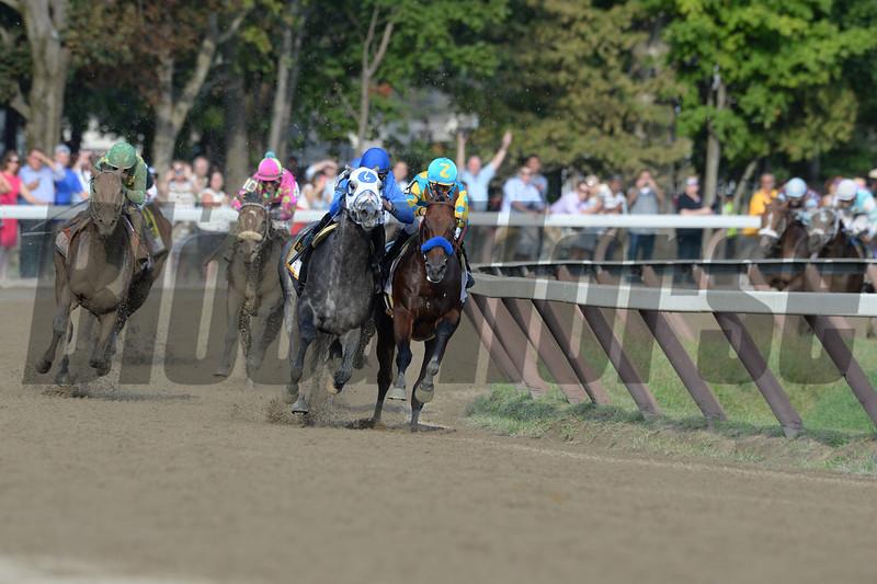 Keen Ice wins the 2015 Travers Stakes.<br /> Coglianese Photos/Ariann Spadoni