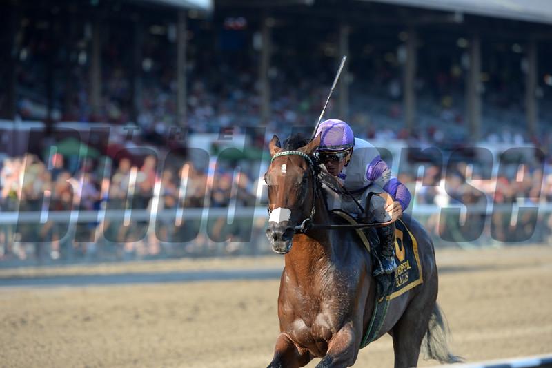 Ralis wins the Hopeful Stakes at Saratoga Sep. 7, 2015.<br /> Coglianese Photos