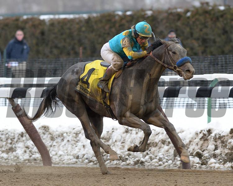 El Kabeir wins the 2015 Gotham Stakes.<br /> Coglianese Photos
