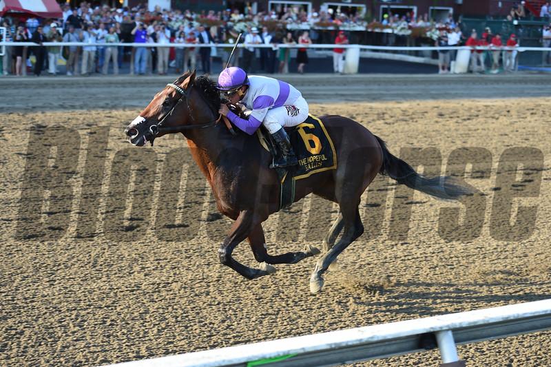 Ralis wins the Hopeful Stakes at Saratoga Sep. 7, 2015.<br /> Coglianese Photos/Chelsea Durand
