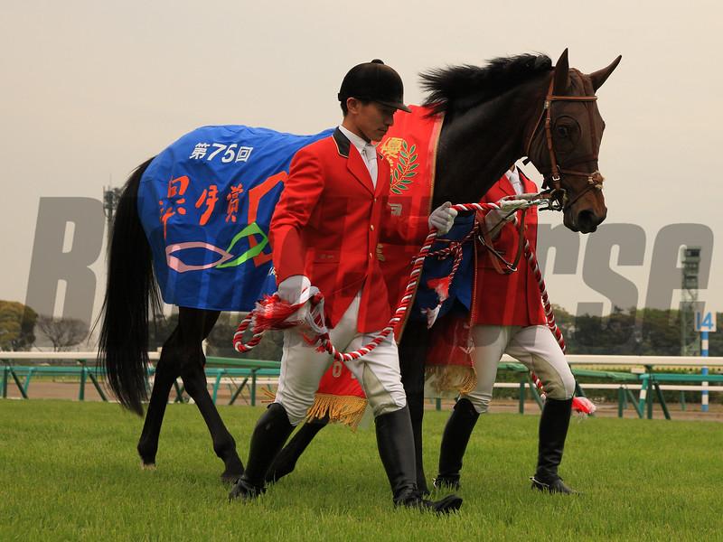 Duramente wins the Satsuki Sho (Jpn-I, Japanese Two Thousand Guineas). <br /> Naoji Inada Photo