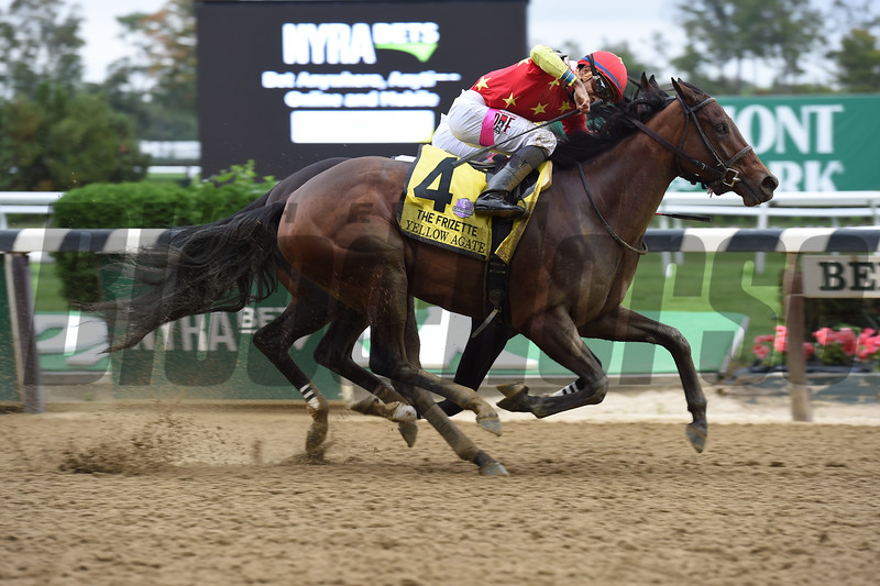 Yellow Agate wins the 2016 Frizette<br /> Coglianese Photos/Susie Raisher