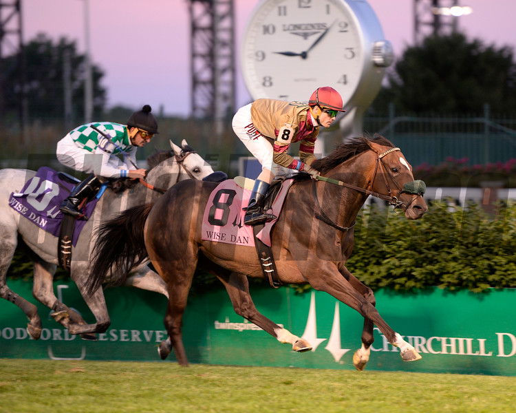 Pleuven with Channing Hill wins the Wise Dan (gr. II)<br />  at Churchill Downs on June 18, 2016.