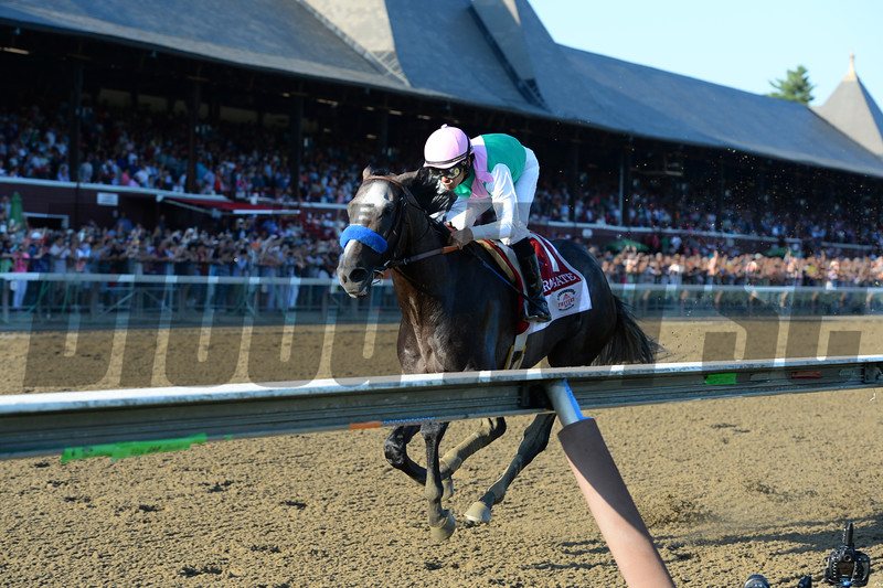Arrogate wins the 2016 Travers.<br /> Coglianese Photos/Joe Labozzeta