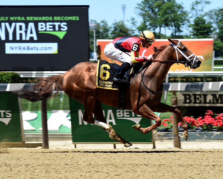 Theogony wins the 2016 Rags to Riches Invitational Stakes.<br /> Coglianese Photos/Susie Raisher