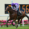Sir Isaac Newton wins the 2016 Wolferton Handicap at Royal Ascot on June 18, 2016.<br /> Mathea Kelley Photo
