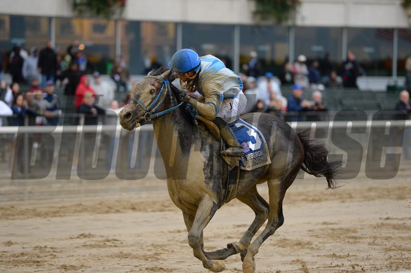 Joking wins the 2016 Vosburgh Stakes.<br /> Coglianese Photos/Joe Labozzetta