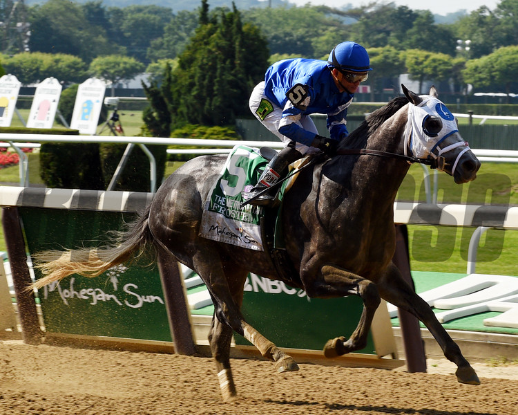Frosted with Joel Rosario wins the 2016 Met Mile (gr. I)<br /> Dave Harmon Photo