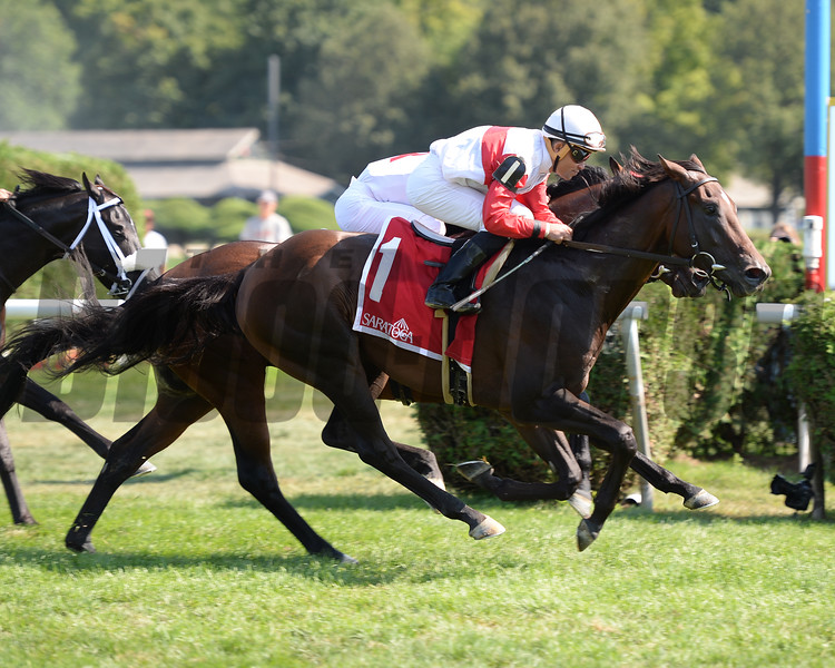 Inspector Lynley wins the 2016 Saranac Stakes.<br /> Coglianese Photos/Susie Raisher