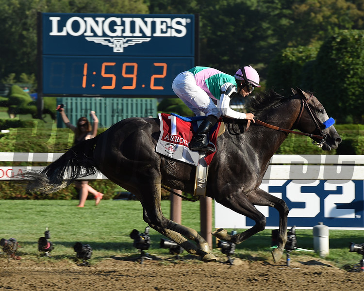 Arrogate wins the 2016 Travers.<br /> Coglianese Photos/Susie Raisher