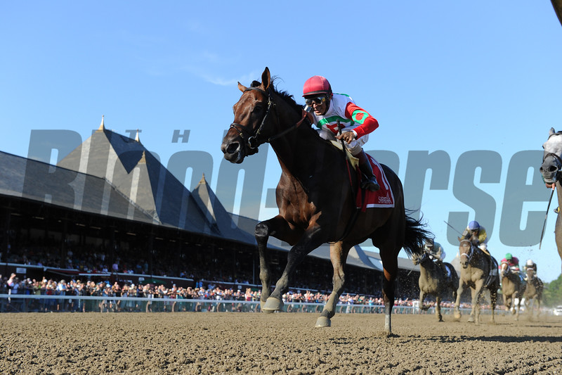 Connect wins the 2016 Curlin Stakes.<br /> Coglianese Photos