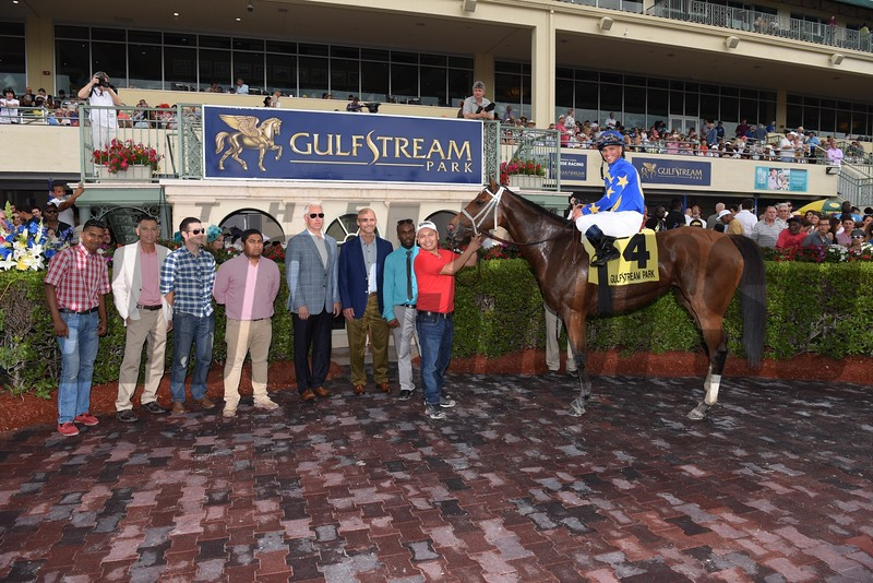Photo Call wins the 2016 Orchid Stakes. <br /> Coglianese Photos