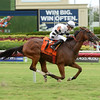 Aire Bueno wins the 2016 Miesque's Approval Stakes.<br /> Coglianese Photos/Leslie Martin