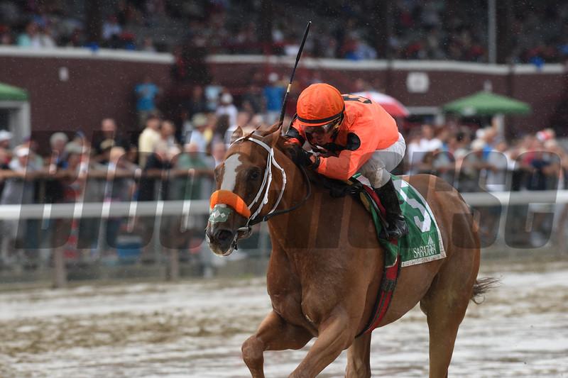 Turco Bravo wins the 2016 Birdstone Stakes.<br /> Coglianese Photos/Chelsea Durand