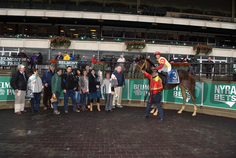 Breakin the Fever wins the 2016 Hudson Handicap.<br /> Coglianese Photos