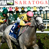 Mr Maybe with jockey Irad Ortiz Jr. is guided to the finish line in first position winning the 13th running of The John's Call Wednesday August 24, 2016 at the Saratoga Race Course in Saratoga Springs, N.Y.    <br /> Skip Dickstein Photo