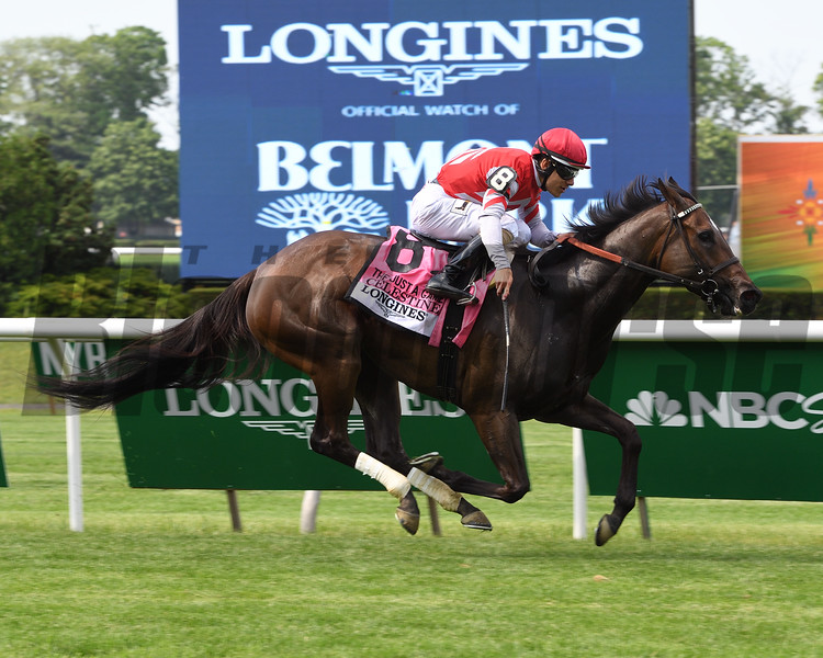 Celestine wins the 2016 Just a Game Stakes.<br /> Coglianese Photos/Susie Raisher