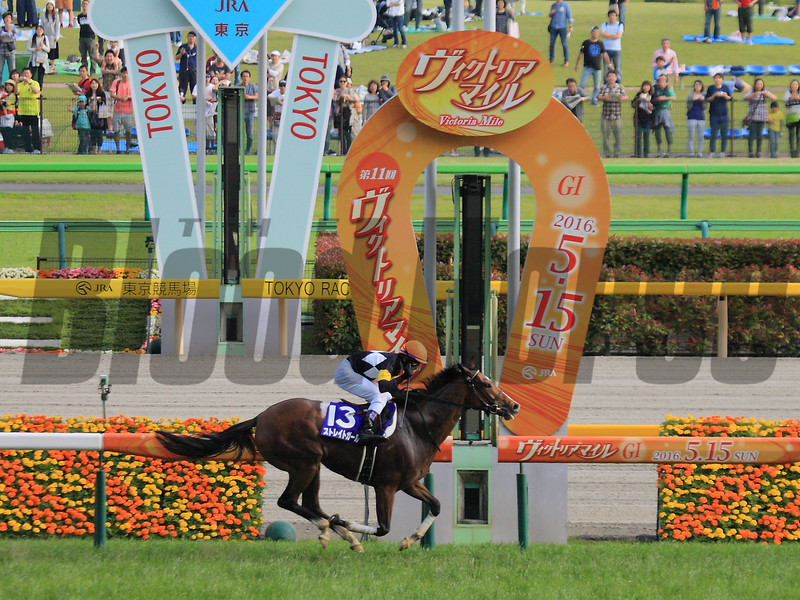 Straight Girl (JPN) wins the Victoria Mile in Japan May 15, 2016.<br /> Naoji Inada Photo