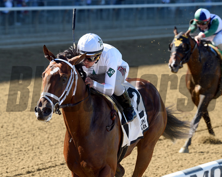 Theory wins the 2016 Futurity.<br /> Coglianese Photos/Chelsea Durand