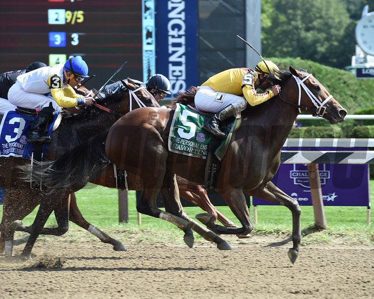 Cavorting wins the 2016 Personal Ensign.<br /> Coglianese Photos