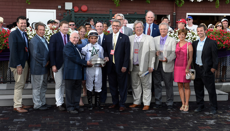 Tourist with jockey Joel Rosario wins the 32nd running of The Fourstardave Aug. 20, 2016 at the Saratoga Race Course in Saratoga Springs, N.Y.